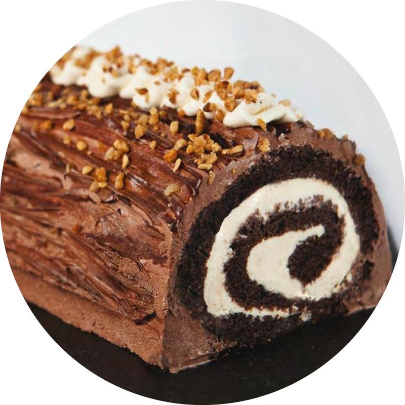 Bûche de Noël Choco-caramel